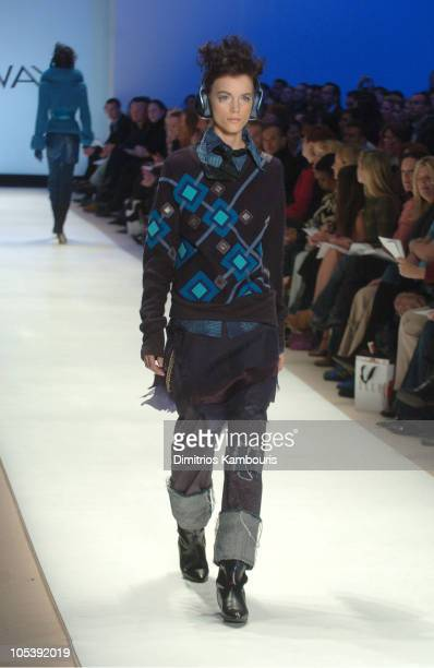 Model wearing Jay McCarroll for 'Project Runway' Fall 2005