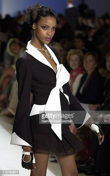 Model wearing Lloyd Klein Spring 2004 during MercedesBenz Fashion Week Spring 2004 Lloyd Klein Runway at Josephine Tent Bryant Park in New York City...