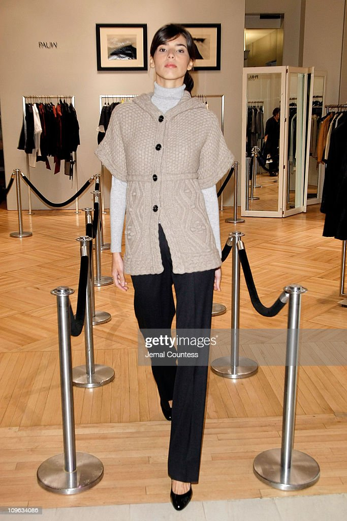 Model wearing Malo at the Saks & Harper's Bazaar Celebration of Falls Most Elevated Collections on Two at Saks Fifth Avenue on September 25, 2008 in New York City.