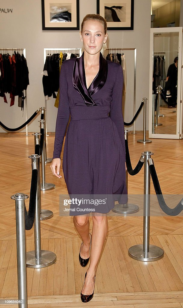 Model wearing Max Mara at the Saks & Harper's Bazaar Celebration of Falls Most Elevated Collections on Two at Saks Fifth Avenue on September 25, 2008 in New York City.