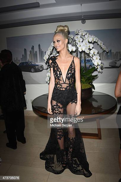 Model wearing Michael Costello at Bentley Beverly Hills on May 16 2015 in Beverly Hills California