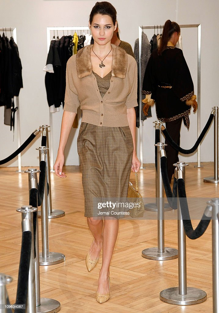 Model wearing Michael Kors at the Saks & Harper's Bazaar Celebration of Falls Most Elevated Collections on Two at Saks Fifth Avenue on September 25, 2008 in New York City.