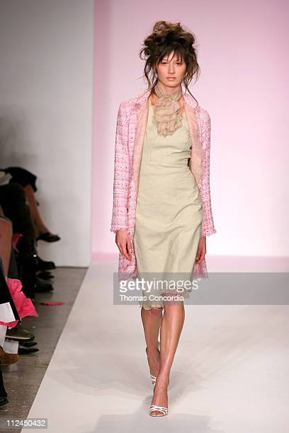 Model wearing Paul Hardy Spring 2005 Collection during MercedesBenz Spring 2005 Fashion Week at Smashbox Studios Paul Hardy Runway at Smashbox...