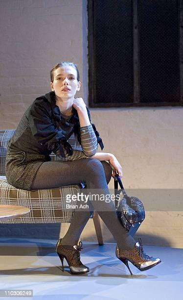 Model wearing Philosophy di Alberta Ferretti Fall 2007