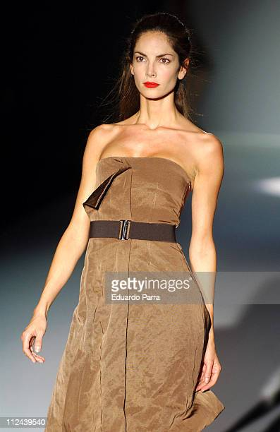 Model wearing Roberto Torreta Fall 2006 during Pasarela Cibeles Madrid Fashion Week Fall/Winter 2006 Roberto Torreta Runway at IFEMA Congress Palace...