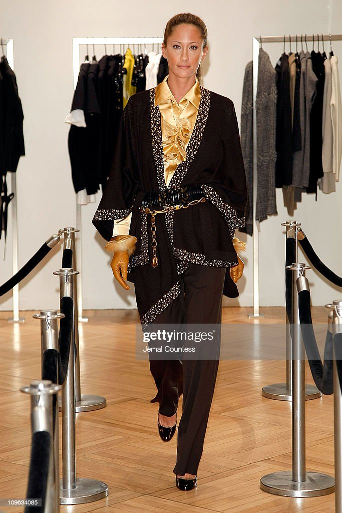 Model wearing St. John at the Saks & Harper's Bazaar Celebration of Falls Most Elevated Collections on Two at Saks Fifth Avenue on September 25, 2008 in New York City.