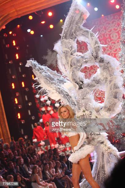 Model wearing Swarovski embellished garments by Victoria's Secret at the 12th Victoria's Secret Fashion show at the Kodak Theater on November 15 2007...