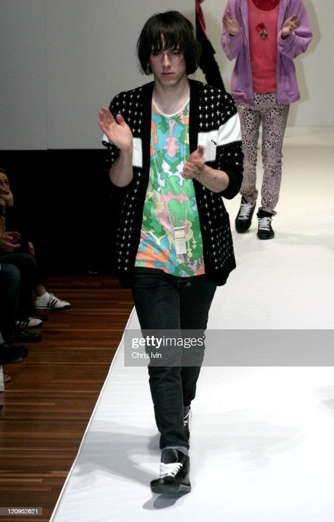 A model wearing Tsubi during Mercedes Australian Fashion Week Autumn/Winter 2004 Collections Tsubi Runway at Federation Square in Melbourne Australia