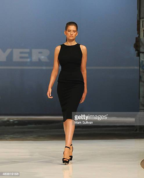 Model wearing Yeojin Bae during the Myer Spring 2015 Fashion Launch on August 13 2015 in Sydney Australia