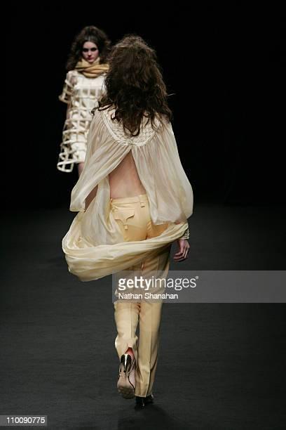 Model wearing Ylang Ylang Autumn/Winter 2006 during Tokyo Fashion Week Autumn/Winter 2006 Ylang Ylang Runway at Meiji Jingu Memorial Picture Gallery...
