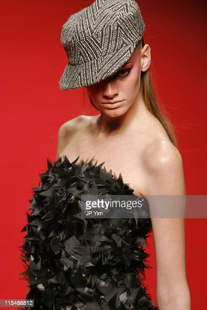 Model wearing YLANG YLANG Fall/Winter 2007 during Tokyo Fashion Week Fall/Winter 2007 YLANG YLANG Runway at The Nihombashi tent NORTH in Tokyo Japan