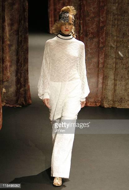 Model wearing YLANG YLANG Spring/Summer 2007 during Tokyo Fashion Week Spring/Summer 2007 YLANG YLANG Runway at Tokyo International Forum in Tokyo...
