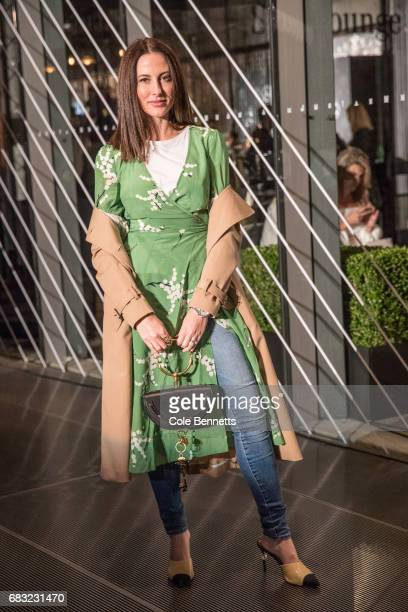A model wearing Yvette Hardy Realisation Par dress Chloe Bag and Chanel shoes during MercedesBenz Fashion Week Resort 18 Collections at Carriageworks...