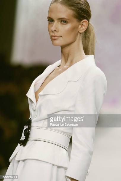 Model wears a creation as part of Fendi's Spring/Summer 2006 women's collection at Milan's fashion week on September 29 2005 in Milan