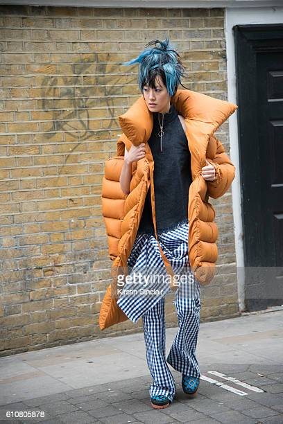 A model wears all Marques Almeida on day 5 of London Womens Fashion Week Spring/Summer 2016 on September 20 2016 in London England
