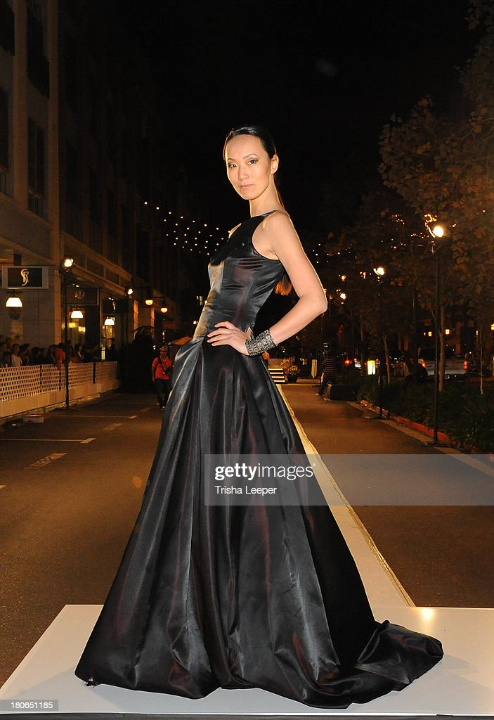 A model wears designs by Franco Umo at the attends Santana Row Fall Fashion Show 2013 on September 14, 2013 in San Jose, California.