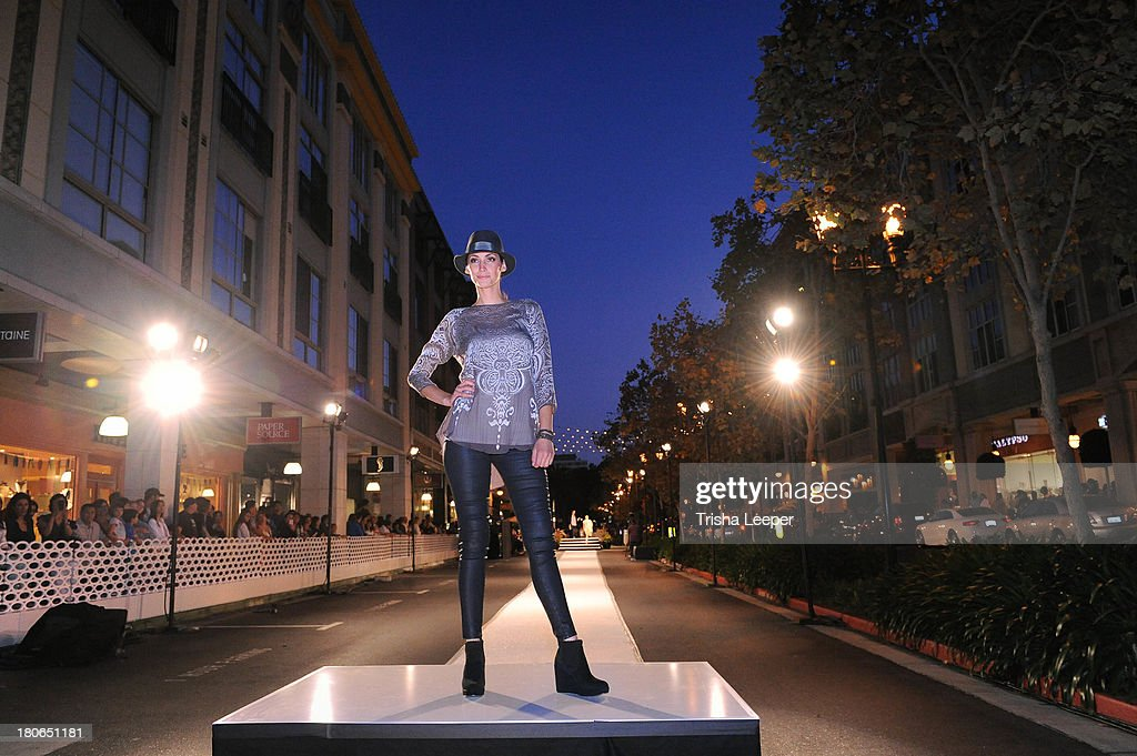 A model wears designs by H&M at the attends Santana Row Fall Fashion Show 2013 on September 14, 2013 in San Jose, California.