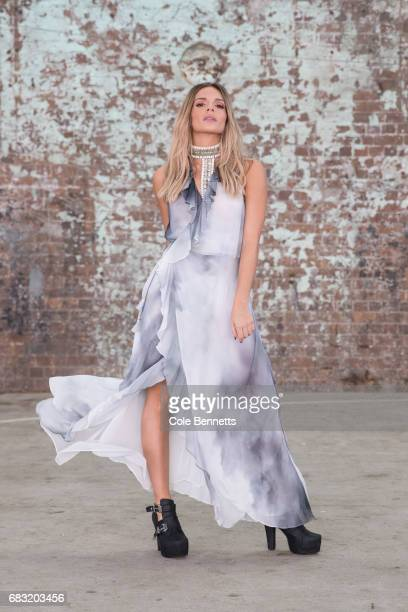 A model wears Ixiah during MercedesBenz Fashion Week Resort 18 Collections at Carriageworks on May 15 2017 in Sydney Australia