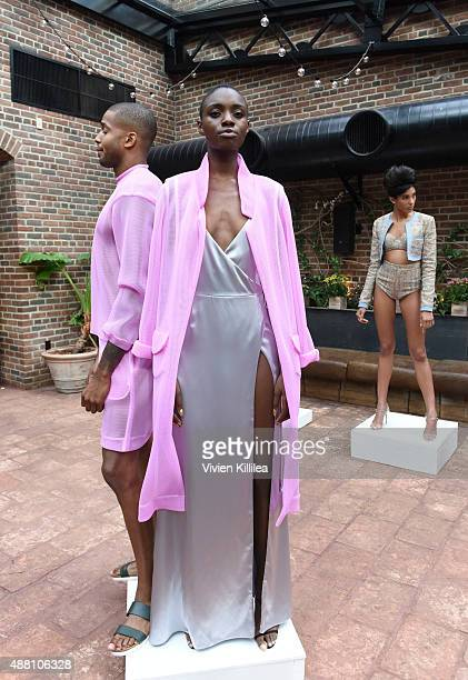 A model wears LaQuan Smith at the LaQuan Smith presentation during Spring 2016 New York Fashion Week on September 13 2015 in New York City