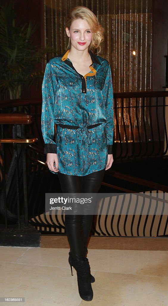 A Model wears Rae by Denise Gertmenian in the Caravan Stylist Studio New York Presentation at the Carlton Hotel on February 12, 2013 in New York City.