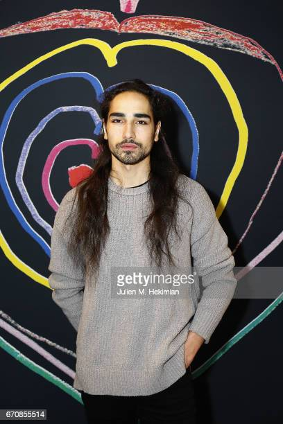 Model Willy Cartier attends Fashion For Relief 'Child At Heart' cocktail party on April 20 2017 in Paris France The 'Child At Heart' collection...
