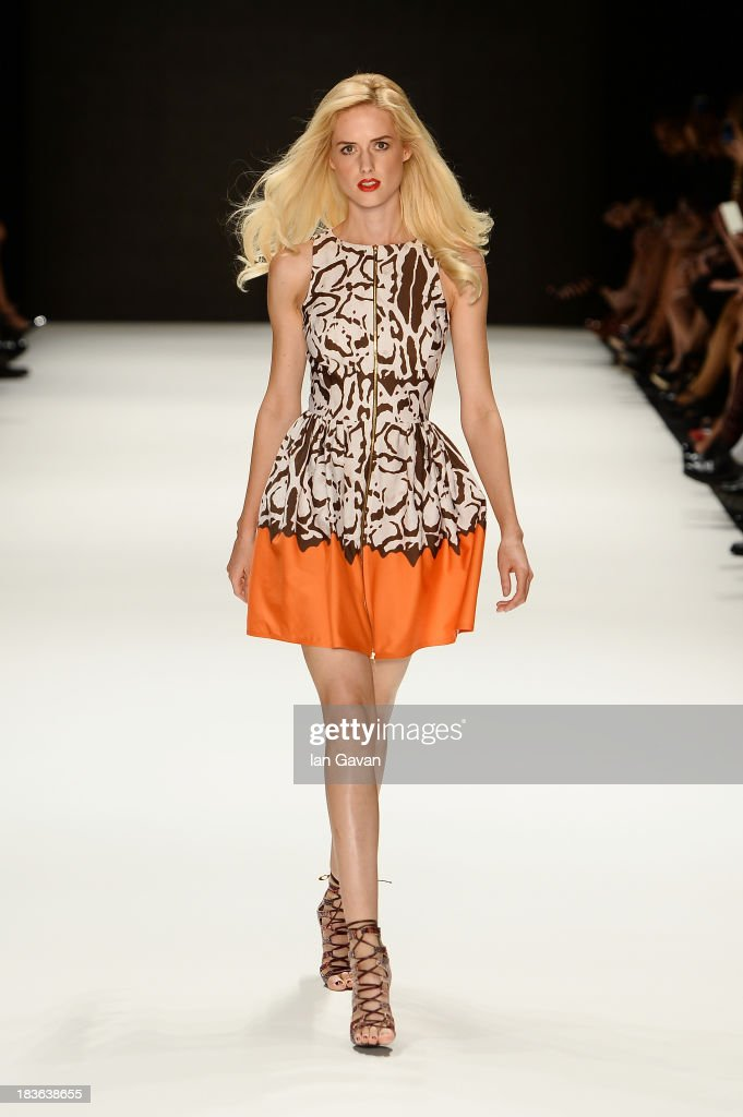Model Wilma Elles walks the runway at the ADL & Cengiz Abazoglu show during Mercedes-Benz Fashion Week Istanbul s/s 2014 presented by American Express on October 8, 2013 in Istanbul, Turkey.