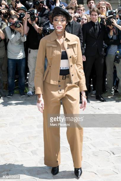 Model Winnie Harlow attends the Christian Dior Haute Couture Fall/Winter 20172018 show as part of Paris Fashion Week on July 3 2017 in Paris France