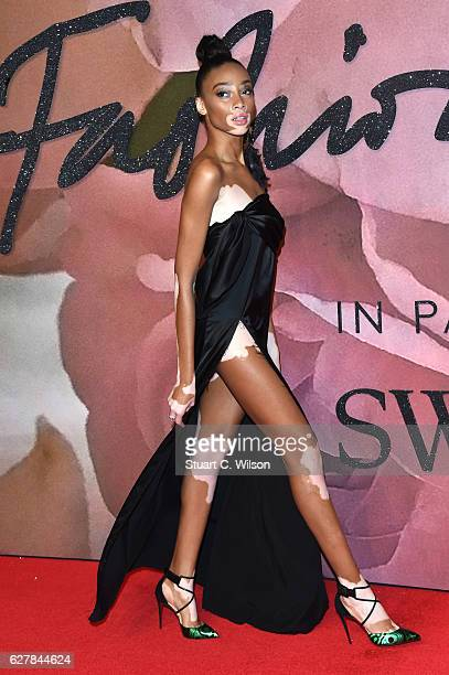 Model Winnie Harlow attends The Fashion Awards 2016 on December 5 2016 in London United Kingdom