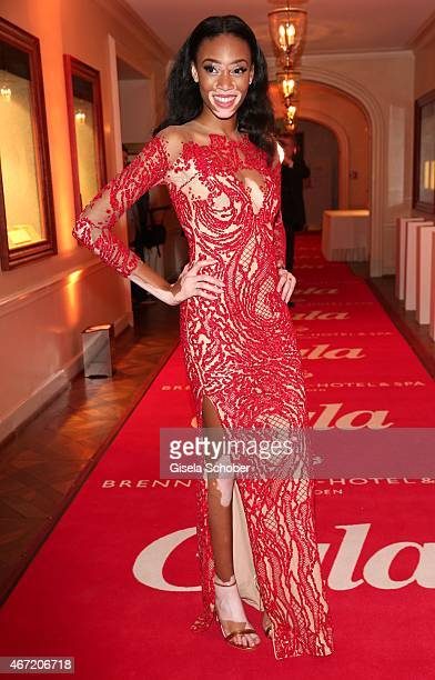 Model Winnie Harlow during the Gala Spa Awards 2015 at Brenners ParkHotel Spa on March 21 2015 in BadenBaden Germany