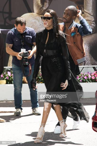 Model Winnie Harlow is spotted during the 70th annual Cannes Film Festival at on May 19 2017 in Cannes France