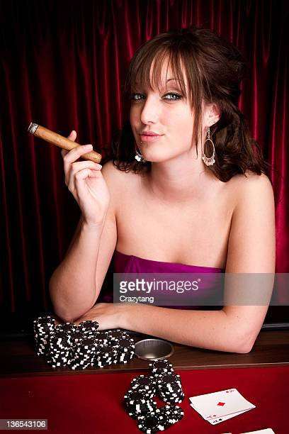 model with cigar