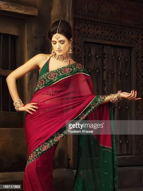 Model With Sari dress