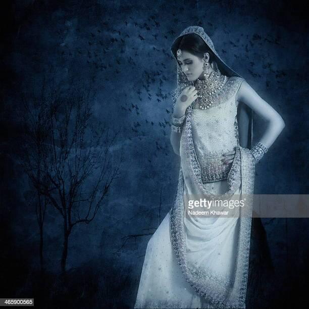 Model with Wedding dress