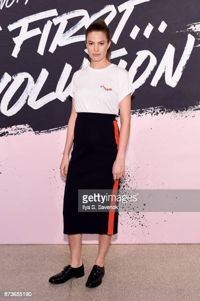 Model Writer Activist Cameron Russell poses during Glamour Celebrates 2017 Women Of The Year Live Summit at Brooklyn Museum on November 13 2017 in...