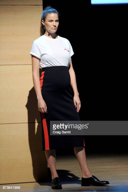Model Writer Activist Cameron Russell speaks onstage during Glamour Celebrates 2017 Women Of The Year Live Summit at Brooklyn Museum on November 13...