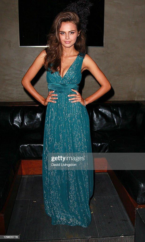 Model Xenia Deli attends Beach Bunny Swimwear's celebration of LA Fashion Week at Eden on October 18, 2011 in Los Angeles, California.