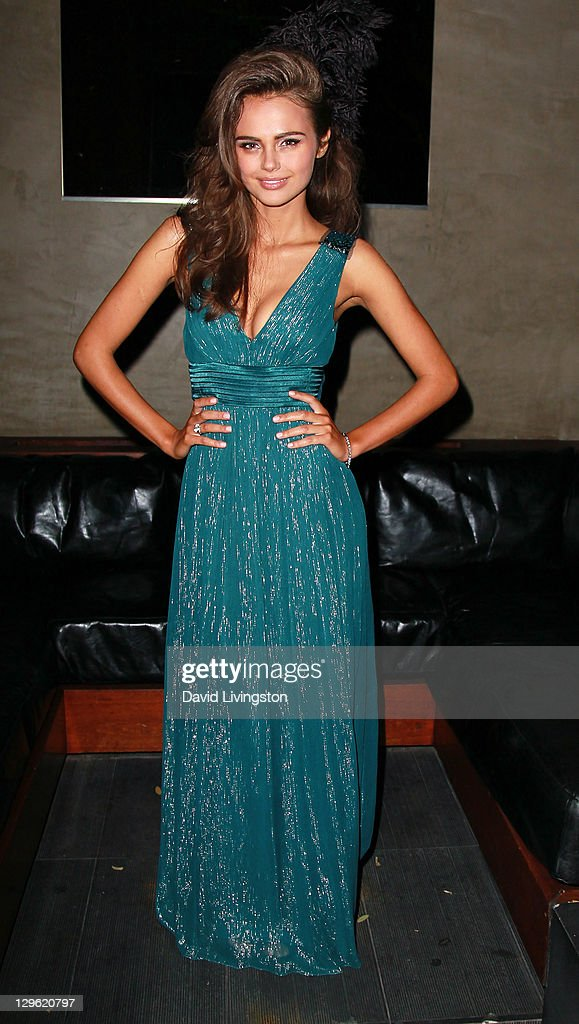 Model Xenia Deli attends Beach Bunny Swimwear's celebration of LA Fashion Week at Eden on October 18, 2011 in Los Angeles, California.