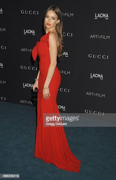Model Xenia Tchoumitcheva arrives at the LACMA 2015 ArtFilm Gala Honoring James Turrell And Alejandro G Inarritu Presented By Gucci at LACMA on...