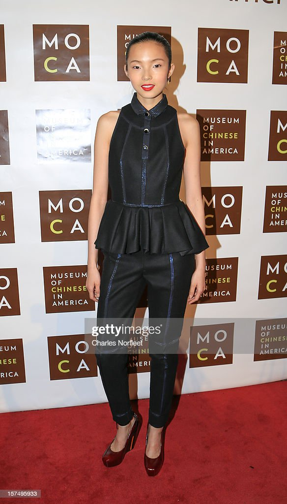 Model Xiao Wen Ju attends the Museum of Chinese in America's Annual Legacy awards dinner at Cipriani Wall Street on December 3, 2012 in New York City.
