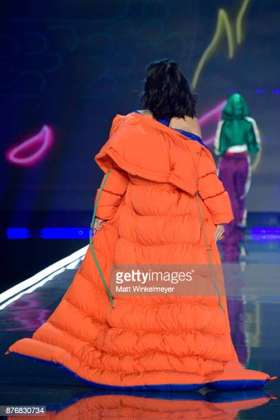 Model Xiao Wen walks the runway during the 2017 Victoria's Secret Fashion Show In Shanghai at MercedesBenz Arena on November 20 2017 in Shanghai China