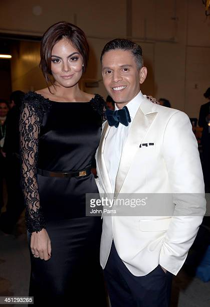 Model Ximena Navarrete and Rodner Figueroa attend The 14th Annual Latin GRAMMY Awards at the Mandalay Bay Events Center on November 21 2013 in Las...