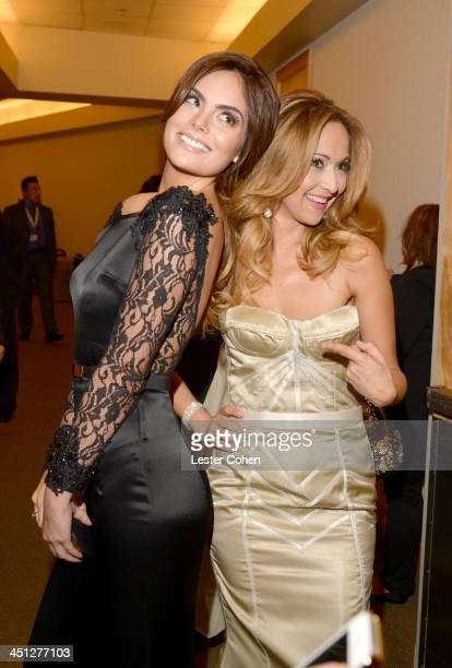 Model Ximena Navarrete and tv personality Veronica Bastos attends The 14th Annual Latin GRAMMY Awards at the Mandalay Bay Events Center on November...