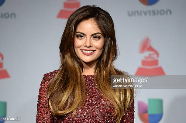 Model Ximena Navarrete poses in the press room at the 14th Annual Latin GRAMMY Awards held at the Mandalay Bay Events Center on November 21 2013 in...
