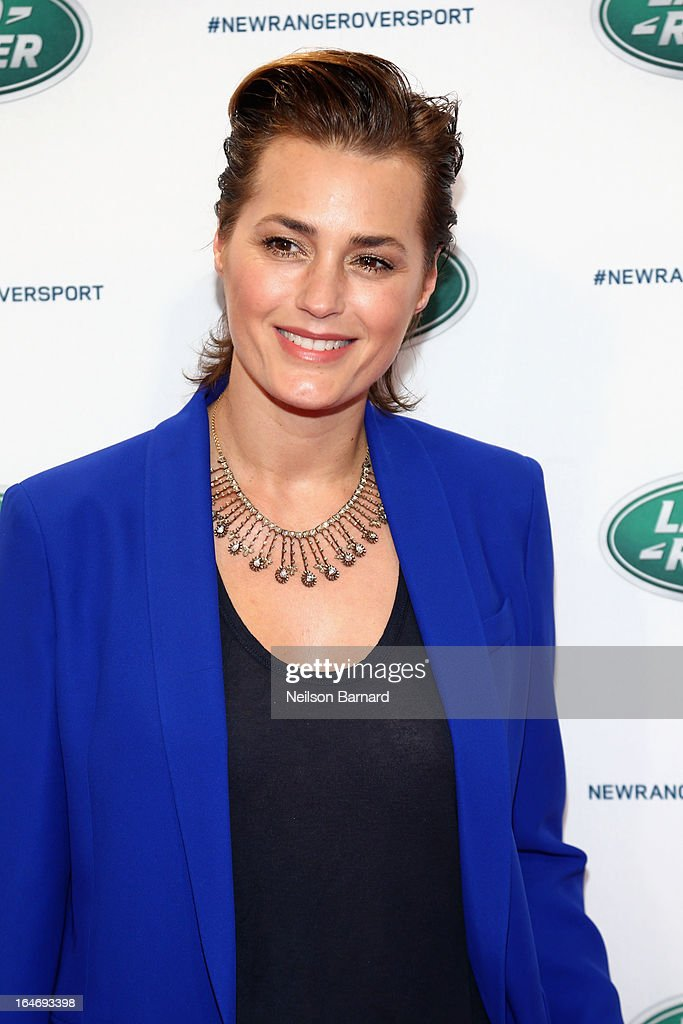 Model Yasmin Le Bon attends the all-new Range Rover Sport reveal on March 26, 2013 in New York City.