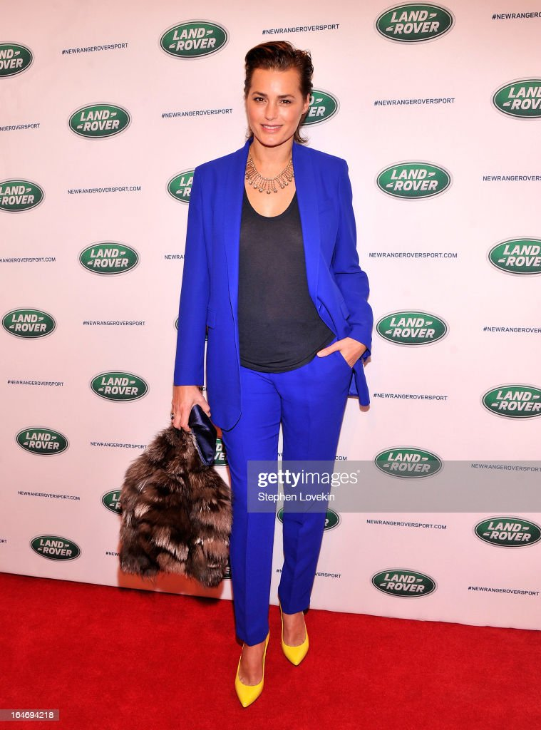 Model Yasmin Le Bon attends the Range Rover Sport world unveiling at the 2013 New York Auto Show at Skylight at Moynihan Station on March 26, 2013 in New York City.