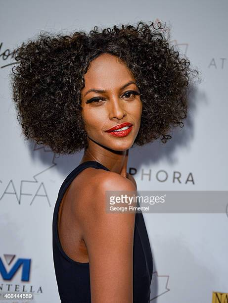 Model Yasmin Warsame arrives at the 1st Annual Canadian Arts and Fashion Awards at the Fairmont Royal York Hotel on February 1 2014 in Toronto Canada