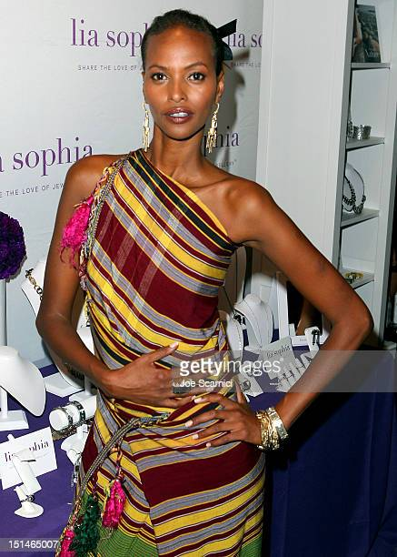 Model Yasmin Warsame at the IT Lounge Portrait Studio Presenting Patrick Demarchelier Brought To You By RWCO during the 2012 Toronto International...