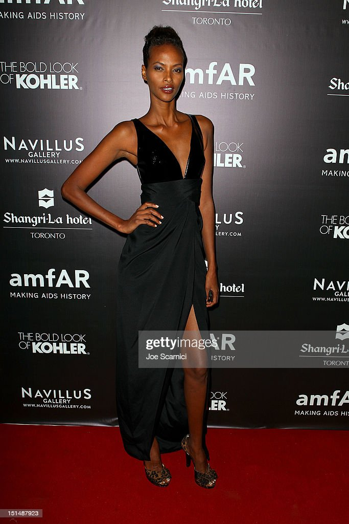 Model Yasmin Warsame attends amfAR Cinema Against AIDS TIFF 2012 during the 2012 Toronto International Film Festival at Shangri-La Hotel on September 7, 2012 in Toronto, Canada.