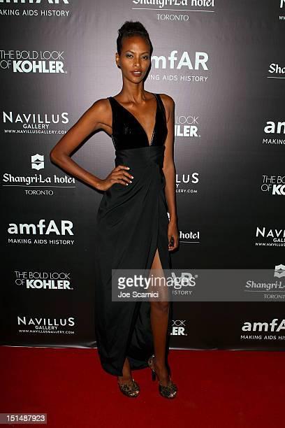 Model Yasmin Warsame attends amfAR Cinema Against AIDS TIFF 2012 during the 2012 Toronto International Film Festival at ShangriLa Hotel on September...