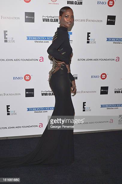 Model Yasmin Warsame attends Fashion Cares A Night Of Glitter Light Featuring Elton John Gala at Sony Centre For Performing Arts on September 9 2012...